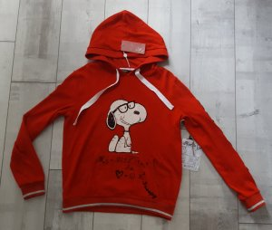 NEUWARE cooles Snoopy Sweatshirt rot Gr.38/40 mit tollen Details ♥️