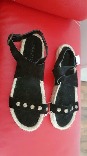 Neuware Esprit Sandale in Wildleder Gr 38 in schwarz