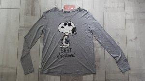 NEUWARE lässiges Snoopy Langarm Shirt grau, Gr. 40 mit tollen Details, Gr. 38/40 ♥️