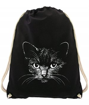 NEUWARE! Turnbeutel Katze Cat Jutebeutel Gymsac Sportbeutel Rucksack Gymbag