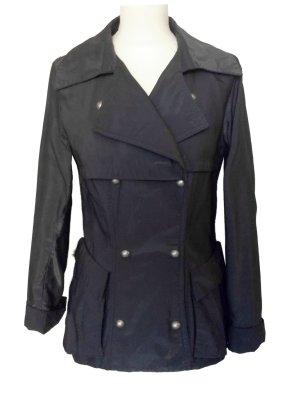neuwertig 34 XS WHITE Designer Jacke  dunkel grau metallic