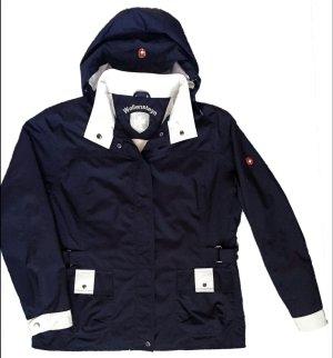 neuwertig 42 44 L WELLENSTEYN BARRIGA Golf Outdoor Jacke Damen navy blau weiß