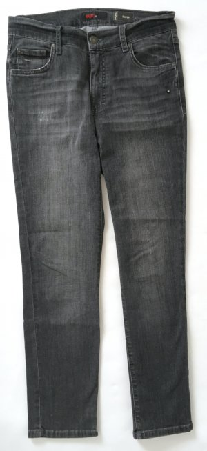 * neuwertig * Angels Sonja Strass Jeans Hose 38 M - 7/8 Ankle - Grey Used grau