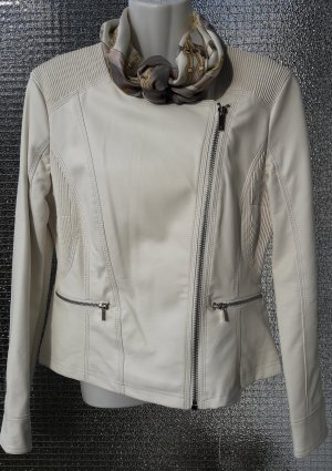 Ann Christine Biker Jacket white