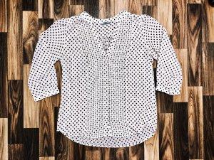 Neuwertig Bluse H&M weiß mit schwarzen Punkten Größe S Neu 34,99€