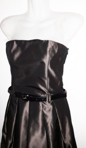 NEUWERTIG! Bustier Abend  Kleid in schwarz-braun Ball Party Abi Kleid Matura