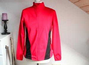 Neuwertig! Damen Softshell Jacke Rot Pink Sportjacke Größe S 36 38 warm winddicht