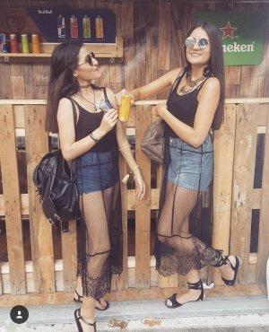 Neuwertig! Festivalkleid Festivaldress Spitzenkleid mit Bodysuit