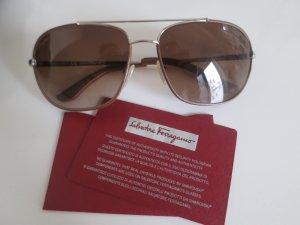 *NEUWERTIG* Hochwertige und exclusive Sonnenbrille von Salvatore Ferragamo mit Brillenrahmen aus Leder