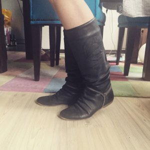 NEUwertig +++ Lederstiefel * Tango Replay * Overknees Gothik Boots