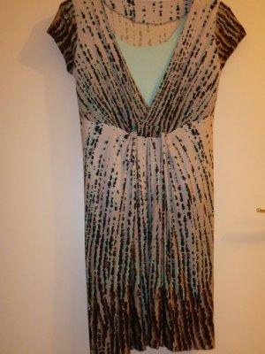NEUwertig, Longbluse/ Kleid, Marke: -jake´s- S/ M, Gr 38/40, feminine Raffung, angschn. Ärmel, feine Wirkware/ passende türkise Jacke extra