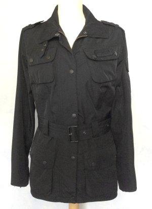 neuwertig M 40 BARBOUR leichte Jacke schwarz kein Wachs! waterproof atmungsaktiv