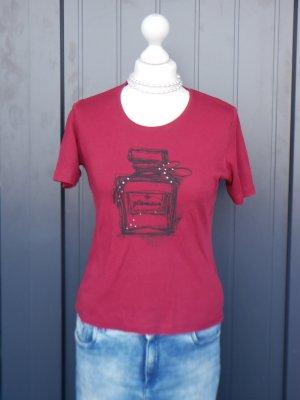 *Neuwertig* Olsen: T-Shirt mit Print und Strasssteine
