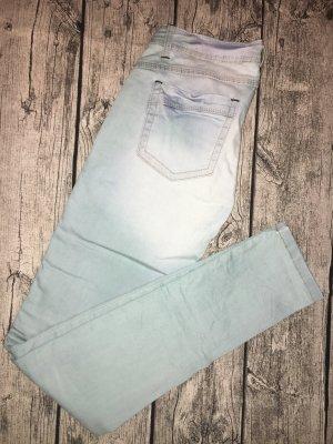 One green elephant Tube jeans azuur-groen