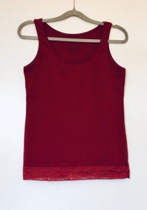 Orsay Top básico carmín-rojo oscuro