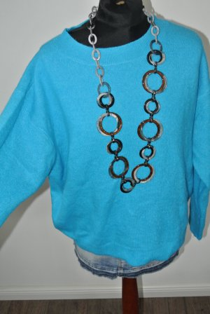 Zara Knit Oversized trui neon blauw