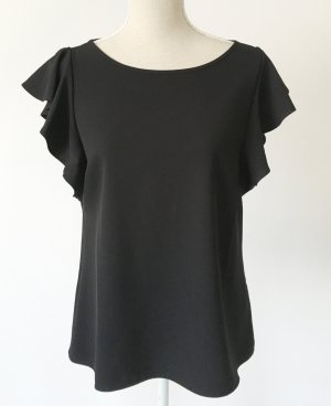 * neuwertig * s. Oliver Black Label Shirt Bluse Top M L 40 schwarz Volants - boho chic