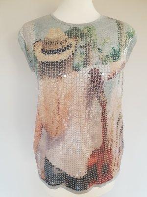 Neuwertig S.Oliver Bluse/Shirt Gr 38 Pailletten