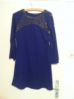 Atmosphere Longsleeve Dress blue mixture fibre