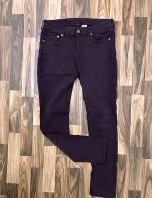 Neuwertig Skinny Jeans Hose Denim H&M low waist L 32 W 32 Plum Pflaume lila neu 39,99€