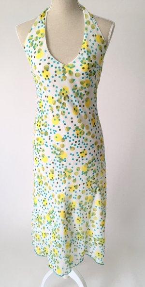 * neuwertig * Sommerkleid & Schal Kleid 38 M punkte gepunktet grün gelb türkis sommer midi 50er