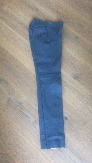 Steven-K Leather Trousers azure-cornflower blue leather