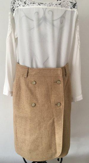 Strenesse Jupe en laine beige-chameau laine vierge