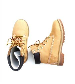 Neuwertig Timberland 6 Inch Premium Boots in Gelb Echtleder