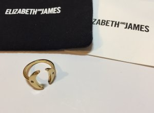 Elizabeth and James Gold Ring gold-colored-black metal
