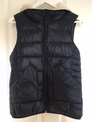 Only Capuchon vest donkerblauw-wolwit