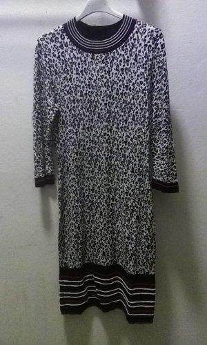 Comma Woolen Dress white-black cotton