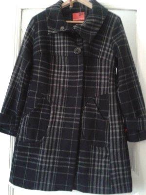 NEUWERTIG - Wunderschöner Mantel 36 von PA - Personal Affairs grau-schwarz karriert