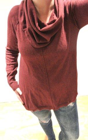Zara Knit Pull long bordeau