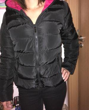 Zara Chaqueta de invierno negro-magenta