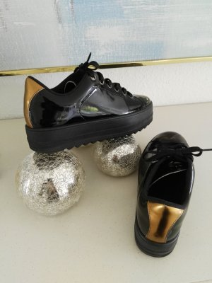 Another A Lace-Up Sneaker black-gold-colored