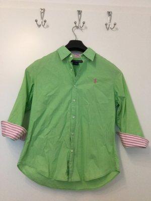 Neuwertige Apfelgrüne 3/4-Arm Bluse von Ralph Lauren (Größe US 12, D 40/42 L)