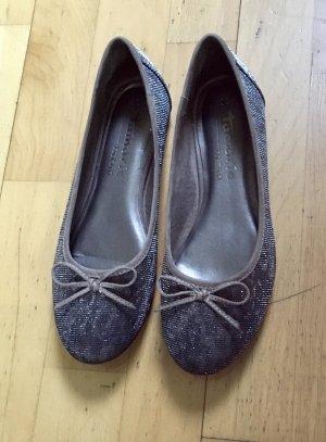 Tamaris Ballerina donkergrijs-grijs-bruin