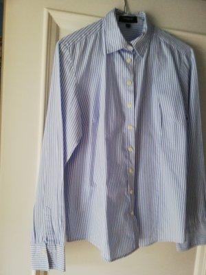 Neuwertige blau weiss gestreifte Bluse für Kostüm oder Anzug Gr 40