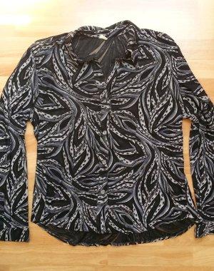 neuwertige Bluse in schwarz-grau/ Gr. M
