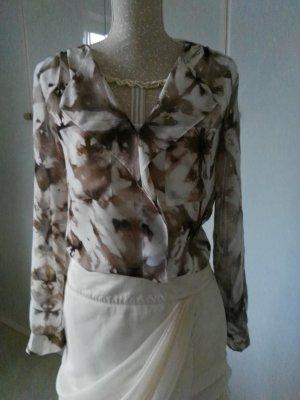 Calvin Klein Blouse grey brown-natural white polyester