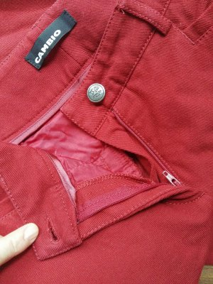 Cambio Carrot Jeans dark red