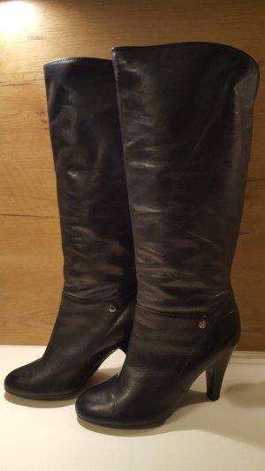 Neuwertige Echt Leder EDC Stiefel, hoher Schaft, Gr. 40