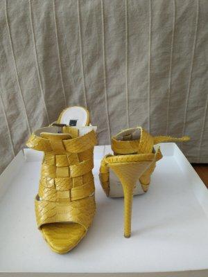 neuwertige Echtleder Sandaletten