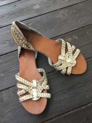 Cinti Roman Sandals gold-colored leather