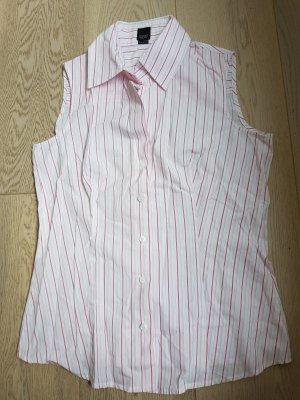 Esprit Blusa sin mangas blanco-rosa claro Algodón