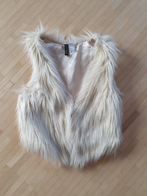 H&M Divided Fur vest natural white-cream
