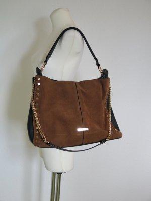 neuwertige Handtasche Shopper schwarz braun gold von TKMAXX