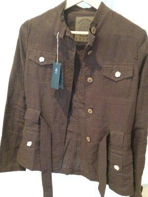 neuwertige Jacke / Blaser, 100 % Leinen, Tchibo, Größe S, braun, neuwertig