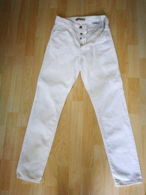 Zara Hoge taille jeans wit