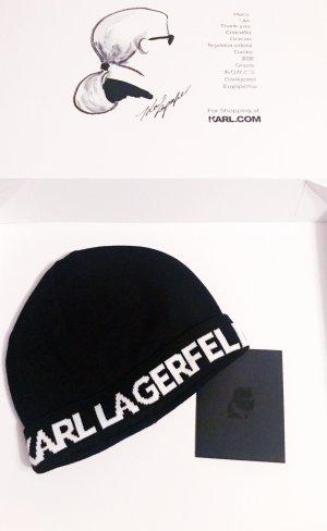 Karl Lagerfeld Gebreide Muts zwart-wit